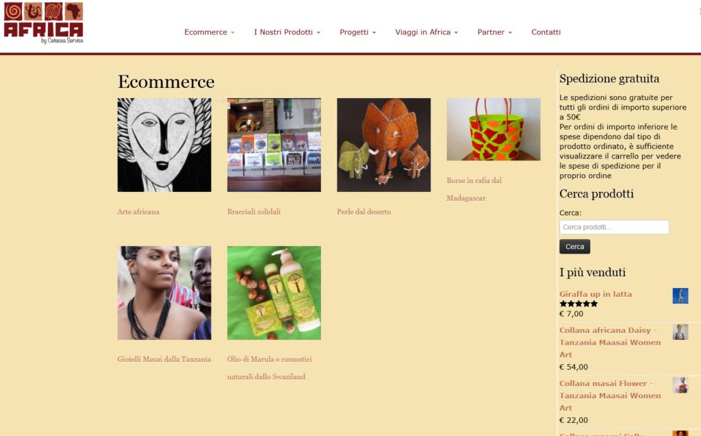Cetacea Service importa e vende artigianato etnico africano