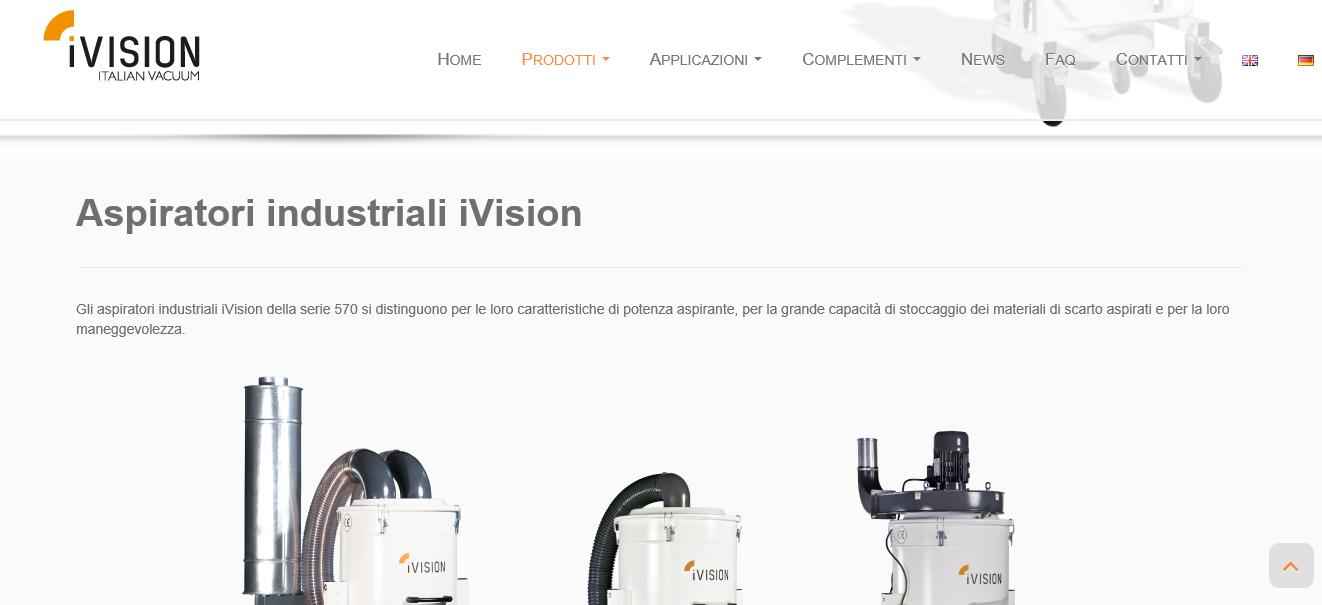 iVision aspiratori industriali