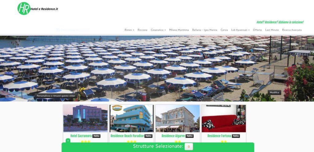 hoteleresidence.it: tourism promotion portal