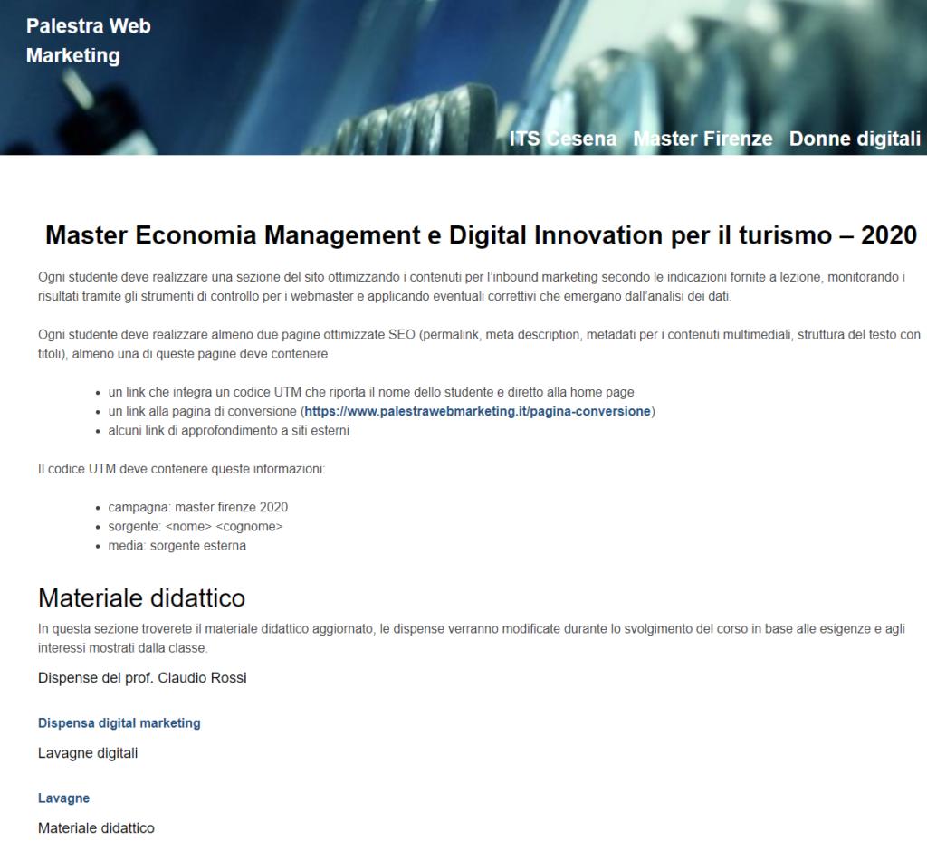 palestra web marketing: a tool to learn Digital Marketing