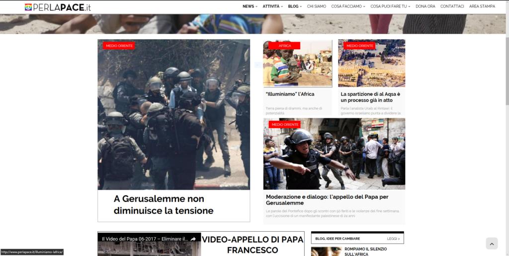perlapace.it the Italian peace portal